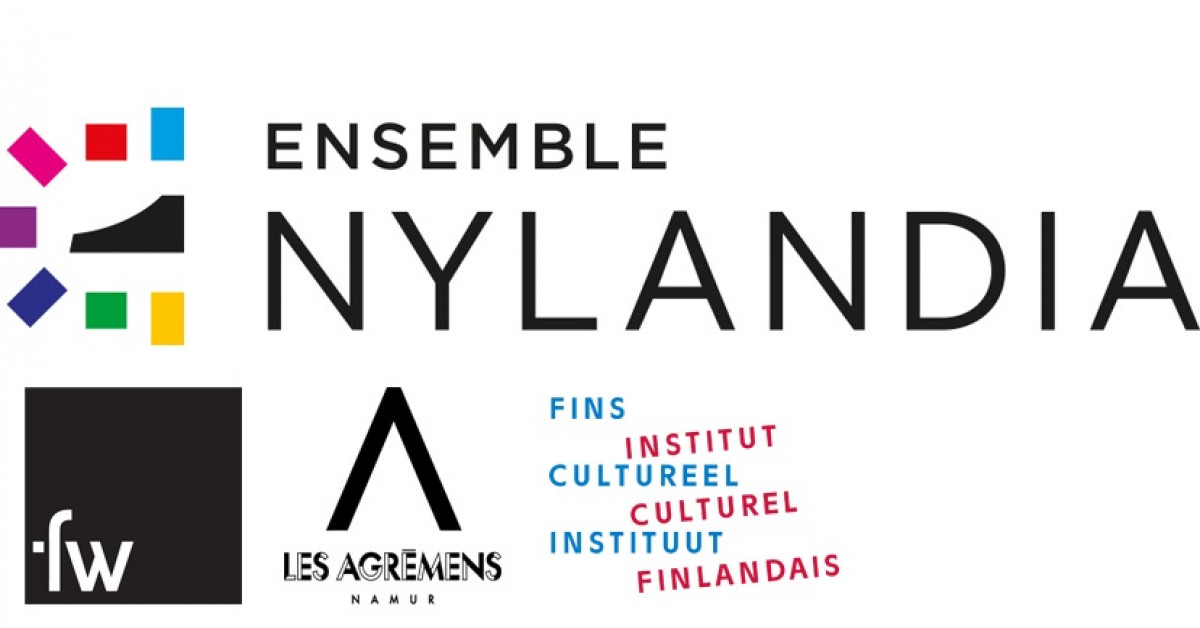 A banner with logos including Ensemble Nylandia, Fw, Les Agremens and The Finnish Cultural Institute for the Benelux.